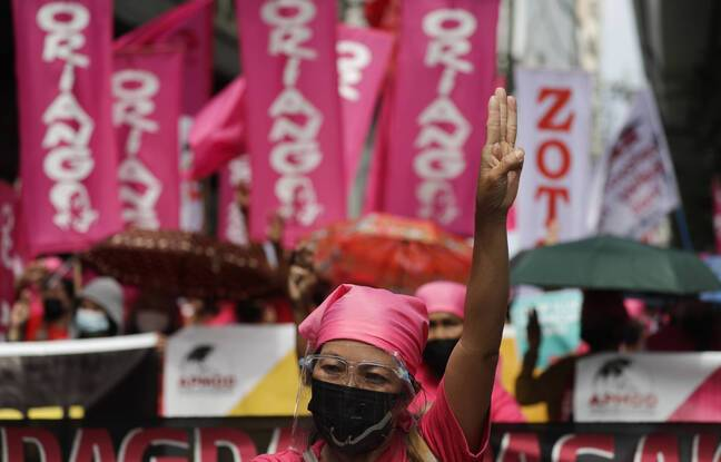 648x415 femme birmane tete manifestation contre putsch militaire
