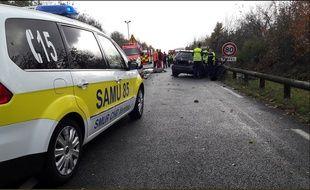 L'accident s'est produit samedi sur la commune de Saint-Vincent-sur-Graon.