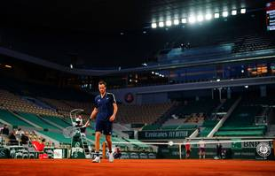 Daniil Medvedev, à Roland-Garros, Paris, le 8juin 2021.