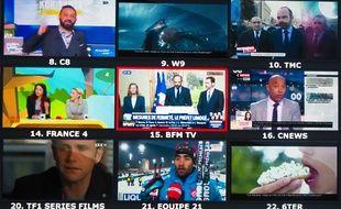 Mosaïque de chaînes de télévision