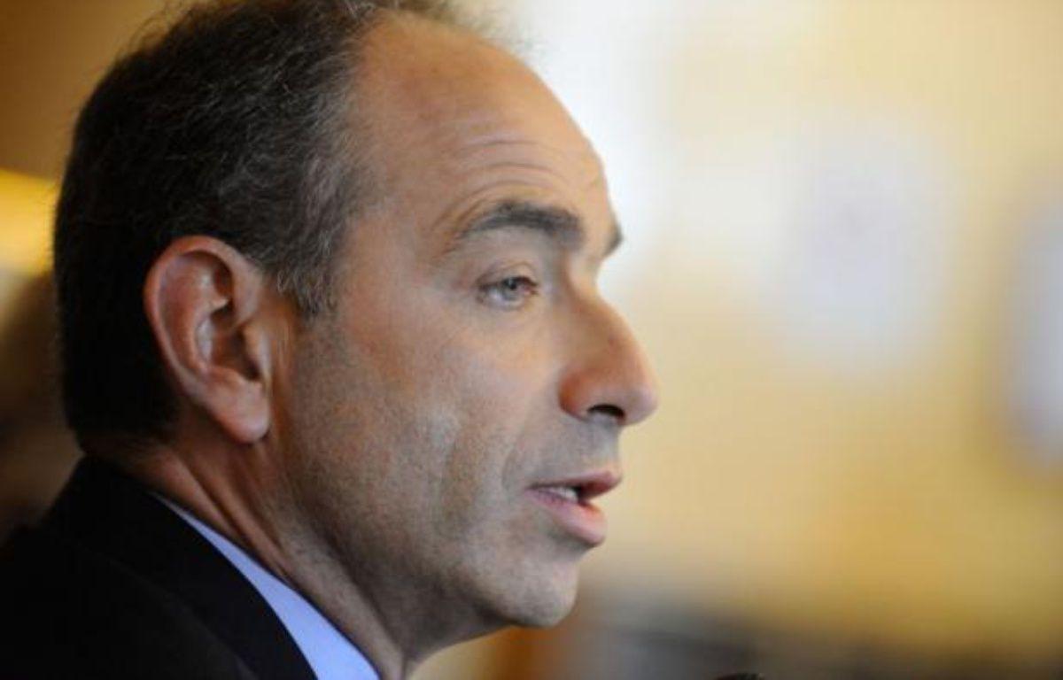 Jean-FrançoisCopé, lors d'une conférence de presse à l'Assemblée nationale, le 24 octobre 2012. – WITT/SIPA