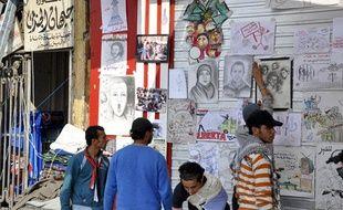Ces dessins représentent des cris de liberté pour les révoltés égyptiens de la place Tahrir, épicentre de la contestation au Caire.