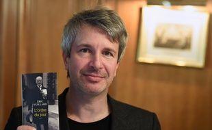 Eric Vuillard, le 6 novembre 2017, lors de la remise du prix Goncourt.