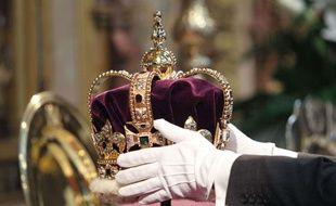 La couronne de la reine du Royaume-Uni.