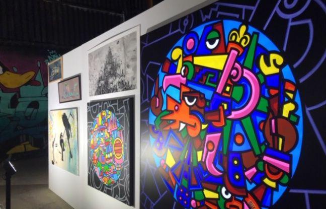 Des oeuvres exposées au festival international de street art Peinture Fraiche