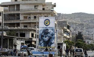 Des combattants de l'opposition syrienne à Idelb, le 13 octobre 2018.