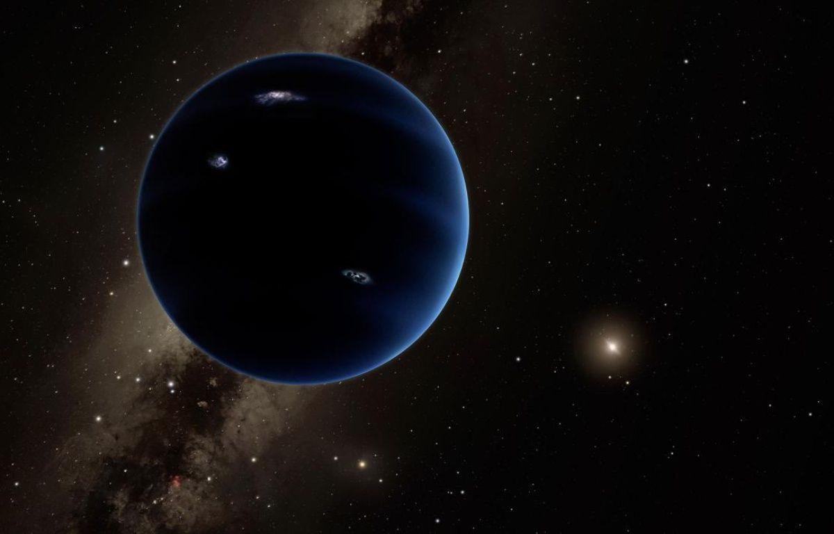 Vue d'artiste d'une possible 9e planète, qui pourrait exister aux confins du système solaire. – CALTECH