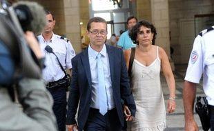 L'ancien urgentiste Nicolas Bonnemaison et son épouse au tribunal de Pau le 12 juin 2014