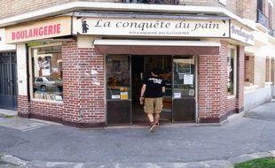 La boulangerie autogérée et anarchiste La conquête du pain st située dans le nord de Montreuil, en Seine-Saint-Denis. Le 19 juillet 2018.