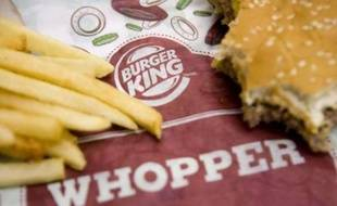 Un restaurant Burger King à Washington aux Etats-Unis.