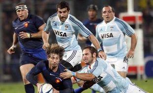 Maxime Médard contre l'Argentine à Marseille, le 8 novembre 2008.