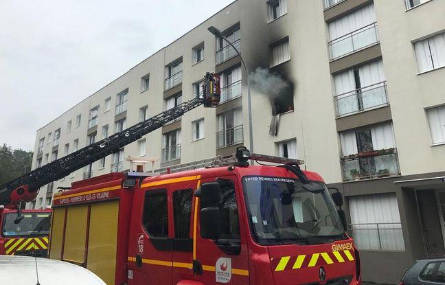 Un incendie s'est déclaré au Gast , à Rennes, le 29 octobre 2019.