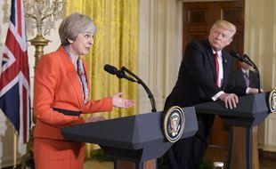 Theresa May à la Maison-Blanche avec Donald Trump, le 27 janvier 2017.