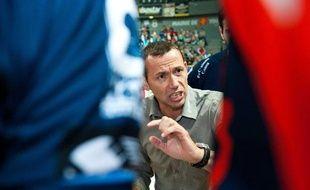 Patrice Canayer, le coach montpelliérain lors du match Toulouse-Montpellier, le 20 octobre 2010.