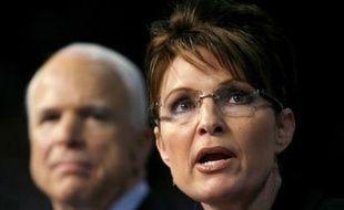 Sarah Palin, colistière du républicain John McCain dans la course à la Maison Blanche, le 29 août 2008 à Dayton, dans l'Ohio.