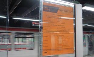 Les régulateurs du métro lyonnais sont en grève depuis le 12 novembre.