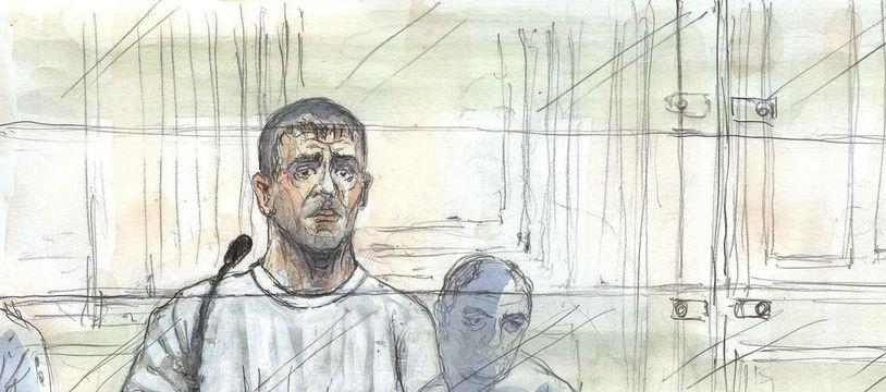 Illustration du procès d'Yvan Colonna, en juin 2011.
