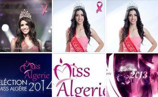 Capture d'écran de la page Facebook de Miss Algérie 2014.