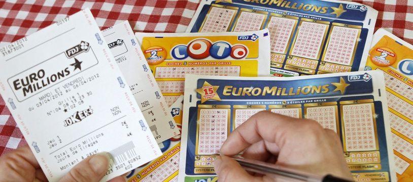 Lille, le 9 avril 2012. Illustration Loto - Euromillions.