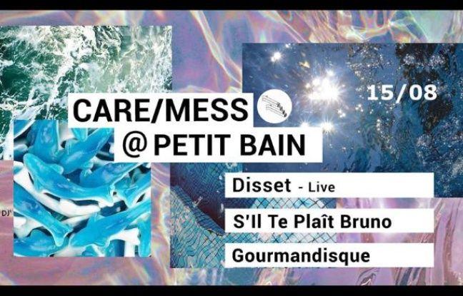 Visuel officiel de la soirée Care/Mess au Petit Bain