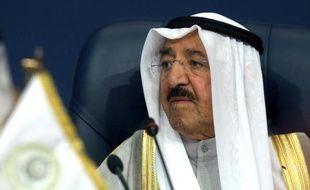 L'émir du Koweït Sabah al-Ahmad Al-Sabah lors d'un sommet de la Ligue Arabe à Kuwait City le 26 mars 2014.