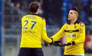 Les joueurs sochaliens lors de leur victoire en L1 contre Reims, le 19 janvier 2013.