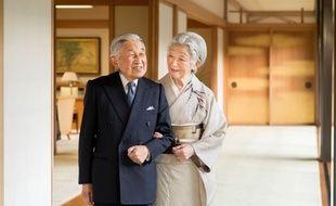 L'empereur Akihito et l'impératrice Michiko au Palais impérial, à Tokyo, le 21 décembre 2018.