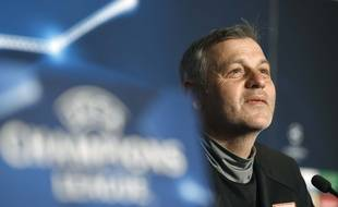 Bruno Genesio, ce lundi lors de la conférence de presse précédant la rencontre entre l'OL et la Juve.