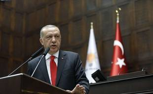 Recep Tayyip Erdogan,  le 7 juillet 2018.