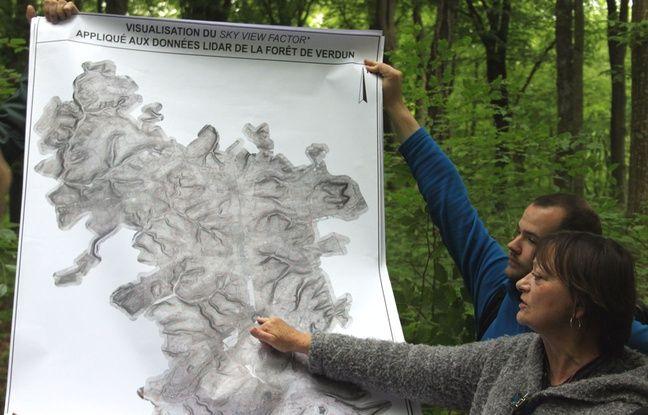 La technologie Lidar, présentée par l'archéologue Stéphanie Jacquemot, permet de localiser tous les vestiges de la bataille en forêt de Verdun.
