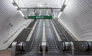 La station de métro Capitole pendant le premier confinement.