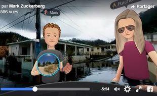 L'avatar de Mark Zuckerberg dans les rues de Porto Rico