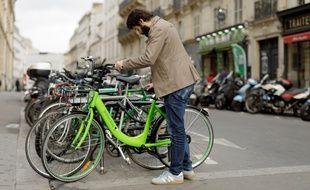 Les vélos en libre-service Gobee.bike à Lyon.