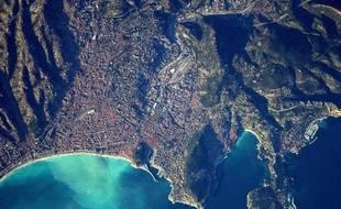 La Côte d'Azur vue du ciel par Thomas Pesquet.