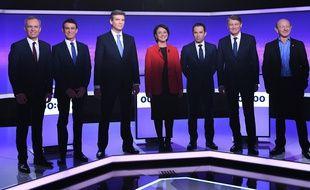Les sept candidats à la primaire de la gauche.