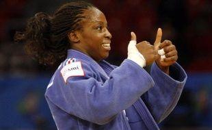 La judoka française Gevrise Emane, lors de sa victoire aux championnats d'Europe d'Istanbul, le 22 avril 2011.