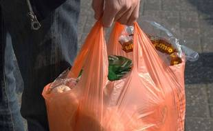 Un sac plastique, illustration.