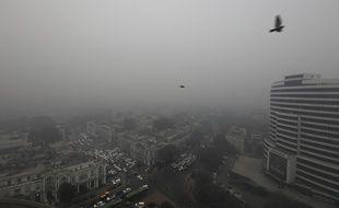 Du brouillard à New Delhi ce 30 décembre
