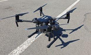 Un drone de la police française (image d'illustration).