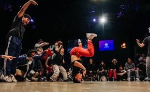 Lors des battles 2018 du festival Hip Opsession à Nantes
