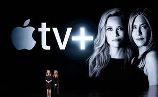 Jennifer Aniston et Reese Witherspoon présente la série d'Apple «The Morning Show», le 25 mars 2019.