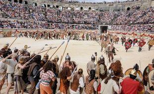 Les arènes de Nîmes accueillent une reconstitution de jeux romains.