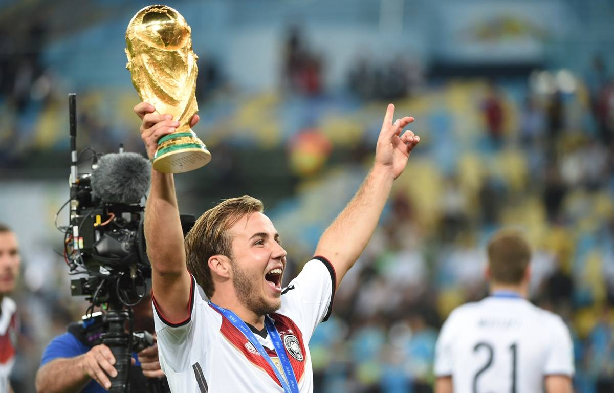Le joueur allemand Mario Goetze, le 13 juillet 2015, à Rio. – PATRIK STOLLARZ / AFP