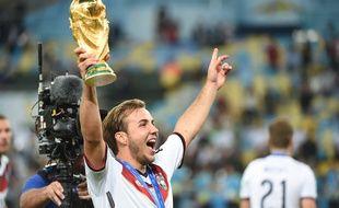 Le joueur allemand Mario Goetze, le 13 juillet 2015, à Rio.