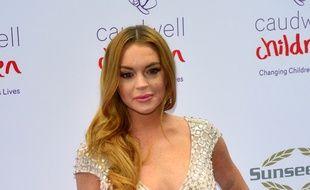L'actrice Lindsay Lohan à Londres
