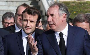 Emmanuel Macron et François Bayrou à Pau, le 14 janvier 2020.