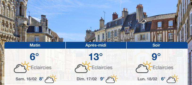 Météo Poitiers: Prévisions du vendredi 15 février 2019