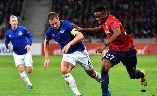 A l'image de Divock Origi, les Lillois ont eu du mal à se défaire d'Everton (0-0), en Ligue Europa, le 23 octobre 2014.