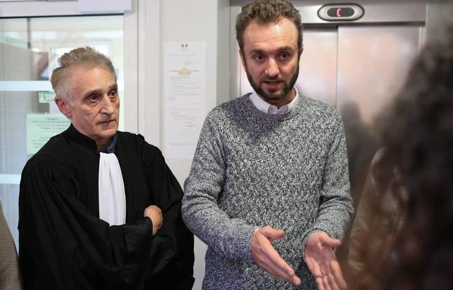 Maître Jean Pierre Joseph du barreau de Grenoble et le jeune papa ce lundi au tribunal.