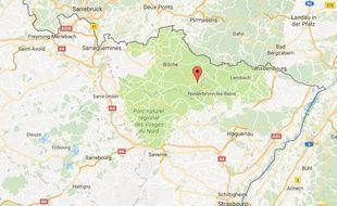 L'accident s'est produit entre les communes de Philipsbourg et Eguelshardt.